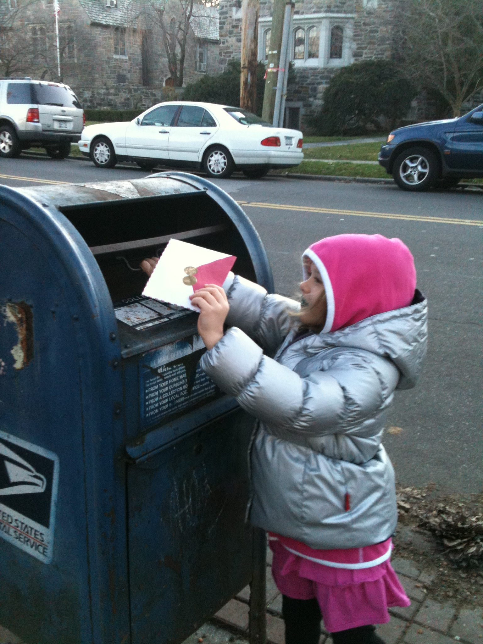Mailing a Letter to Santa – #Wordless Wednesday