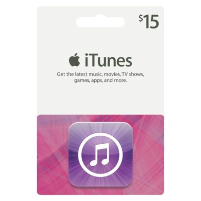 $15 itunes gift card  branded friendship cloth grocery bag
