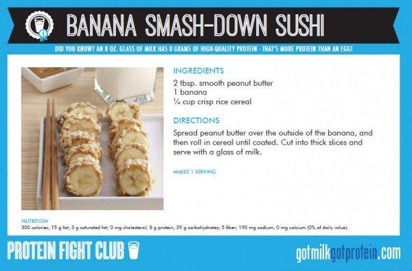 Banana Smash-Down Sushi