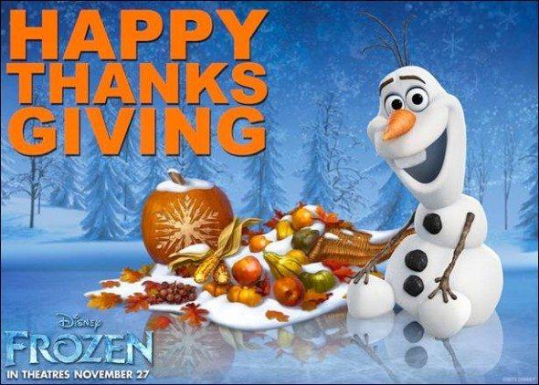 frozen thanks card