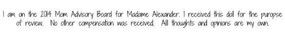 Madame Alexander disclosure