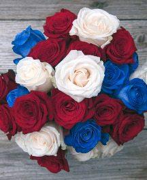 redwhiteblue bouquet