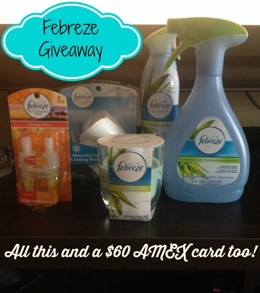 Febreze $60 American Express Gift Card Giveaway