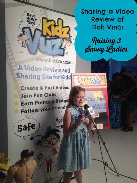 Doh Vinci Review Raising 3 Savvy Ladies #KidzvuzBTS