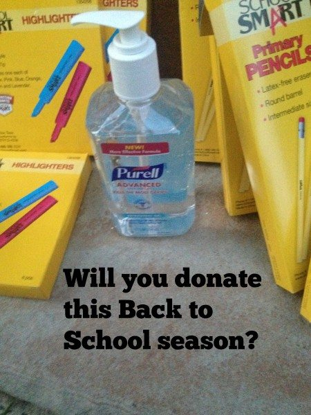 Donate School Supplies #PurellLendaHand
