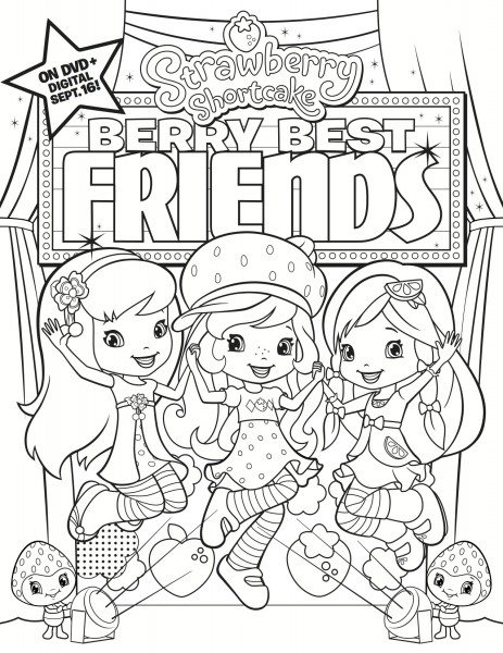 Strawberry Shortcake  Berry Best Friends Coloroing Sheet