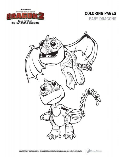 How to Train Your Dragon 2 Coloring Sheet