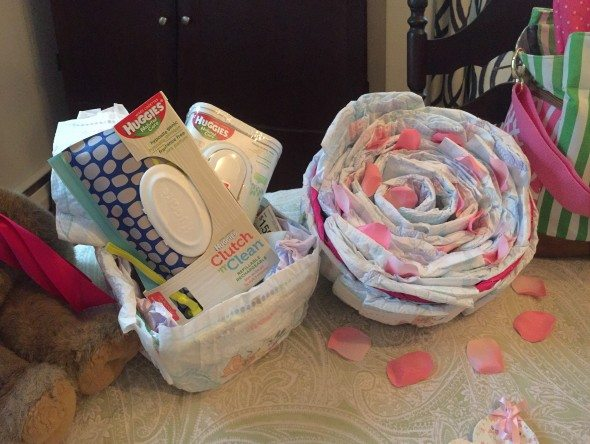 Rose Diaper Cake Huggies