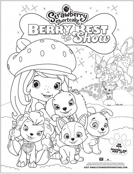 SS Berry Best in Show  Coloring PageWith Format Messaging
