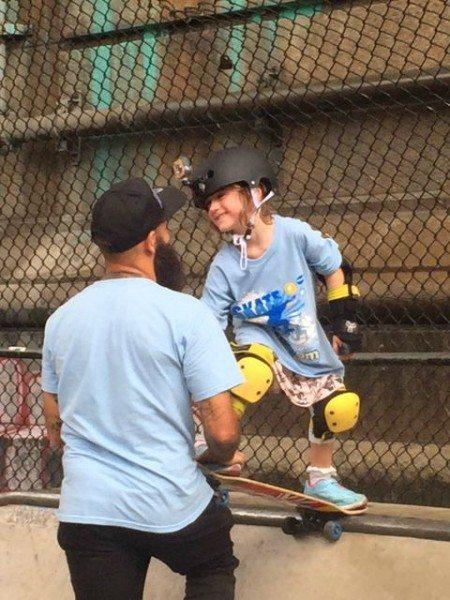 a skateboarding Lesson Omar vtech