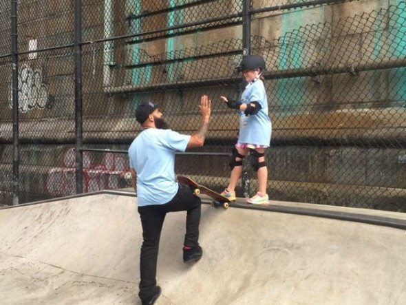 a skateboarding lesson with Omar