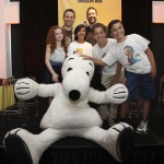 The Peanuts Movie cast with Snoopy