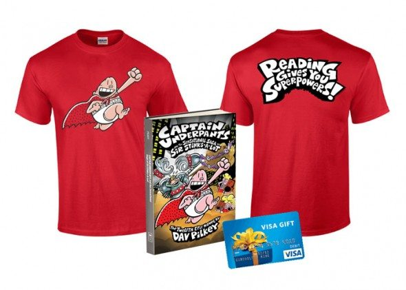 Dav Pilkey Captain Underpants Giveaway