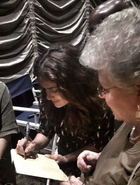 Salma Hayek signs The Prophet Book