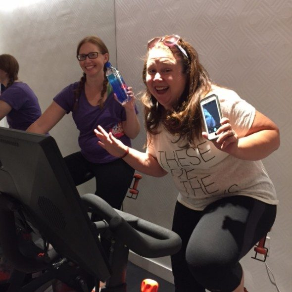 Kerri & Destiny First time spinning