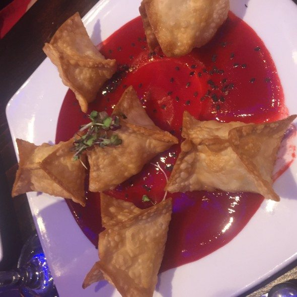 Crab Rangoon - guava sauce