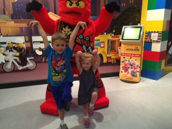 My little ninjas posing with Kai.