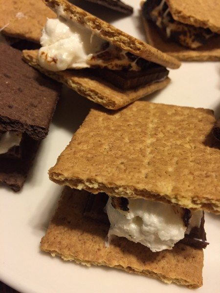 Smores  made with Honey Maid