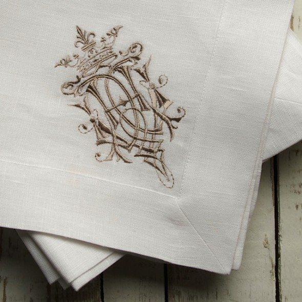 CLD - White Royal Napkin