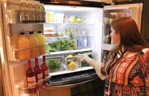 LG Black Stainless Steel Refrigerator