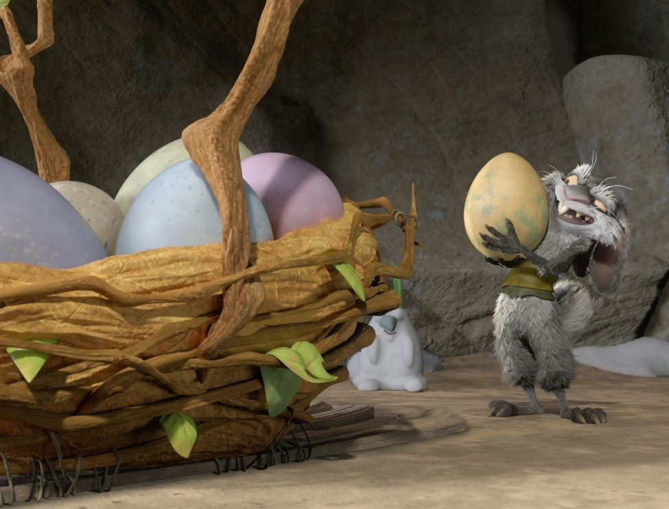 ICE AGE: THE GREAT EGG-SCAPADE: FOX puts a prehistoric spin on the world's first Easter egg hunt in the all-new animated special ICE AGE: THE GREAT EGG-SCAPADE airing Sunday, March 20 (7:30-8:00 PM ET/PT) leading into THE PASSION (8:00-10:00 PM ET live/PT tape-delayed) on FOX. Pictured: Squint (Seth Green). CR: FOX