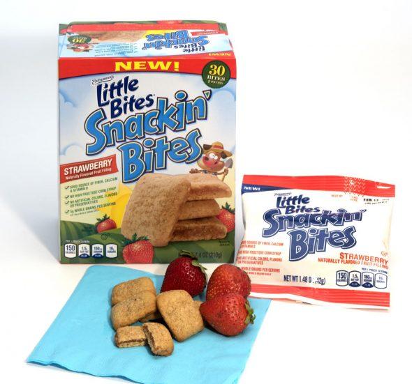 little bites snackin bites strawberry