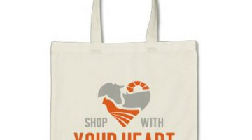 shop with your heart bag
