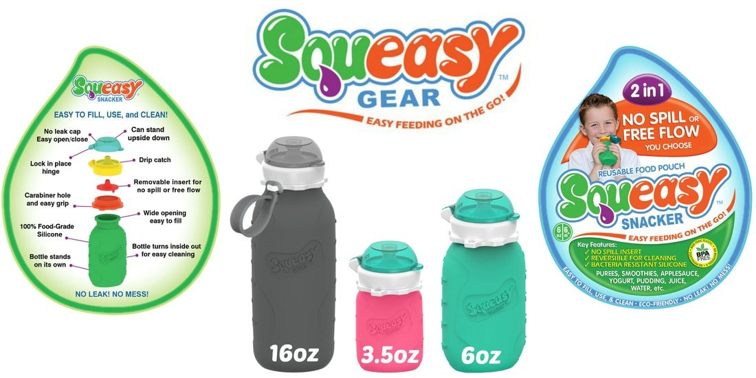 Win 3 Squeasy Gear reusable silicone pouches in US Japan Fam's Spring Goodies for the Kiddies Giveaway!